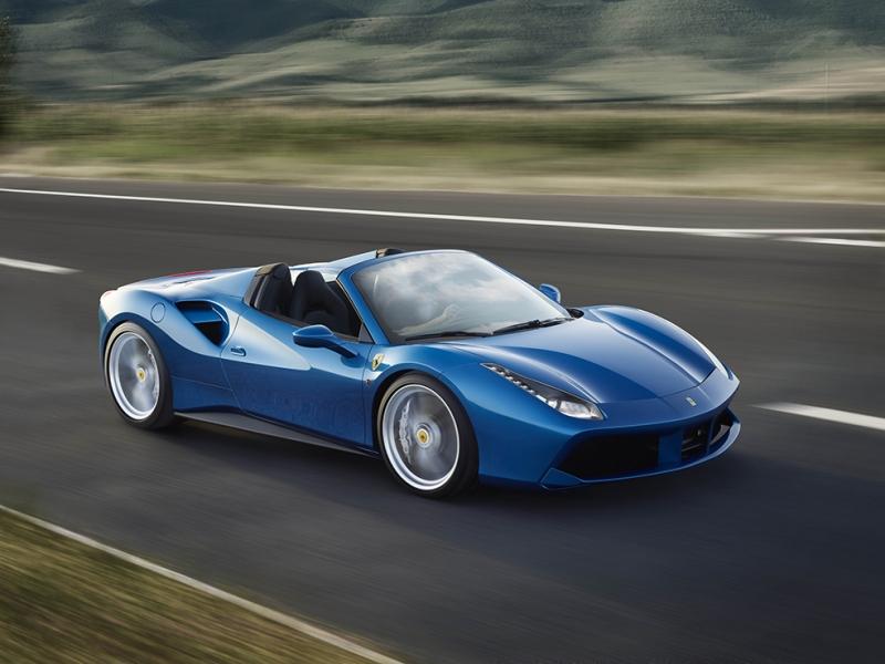 Ferrari Mavi Araçlar Kanvas Tablo