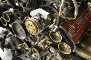 Ferrari Motor Detayı Otomobil Araçlar Kanvas Tablo