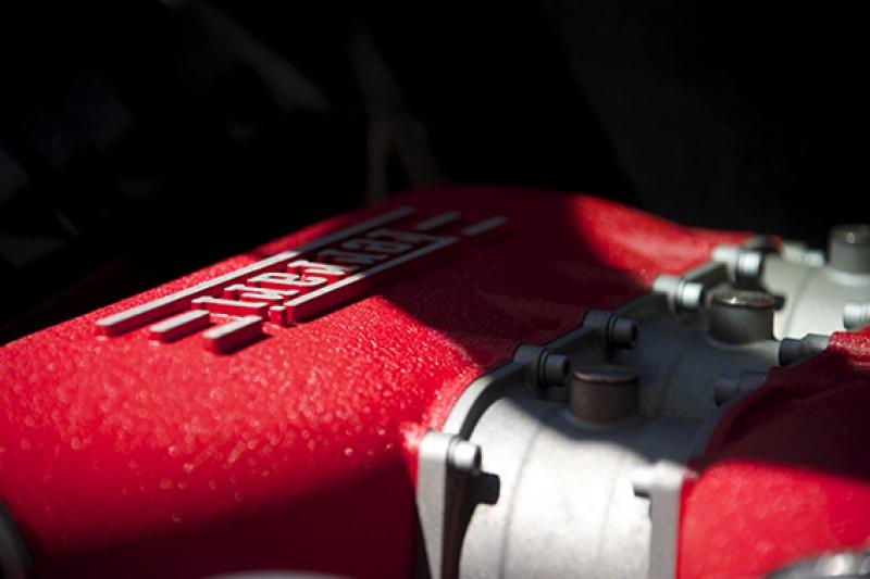 Ferrari Motoru Kanvas Tablo