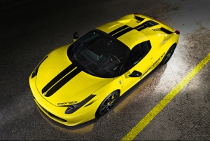 Ferrari Sarı Spor Otomobil Kanvas Tablo