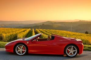 Ferrari Spor Otomobil Kanvas Tablo