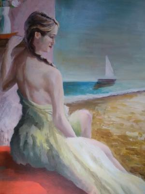 Filipe Pinheiro Bayan Portre Yağlı Boya Klasik Sanat Kanvas Tablo