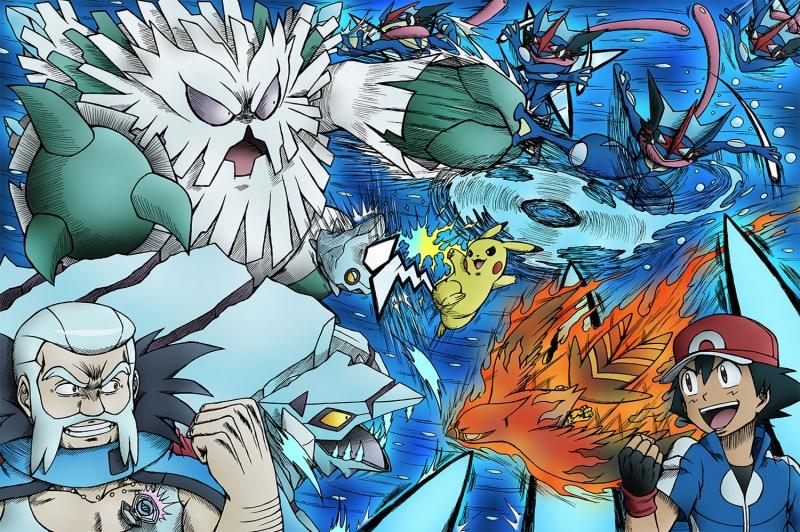 Final Gym Hype Pokemon Karakterleri Kanvas Tablo