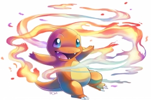 Fire Spin Charmander 14 Pokemon Karakterleri Kanvas Tablo
