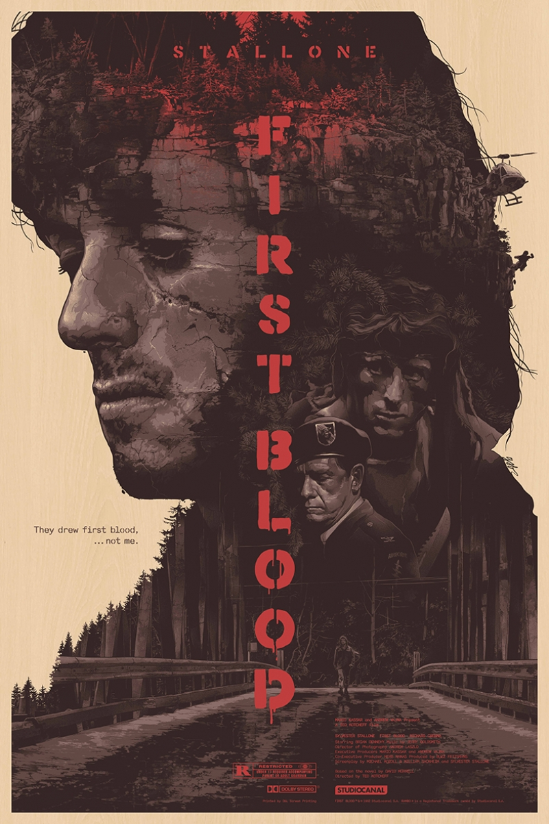 First Blood İlk Kan İllustrasyon Afiş