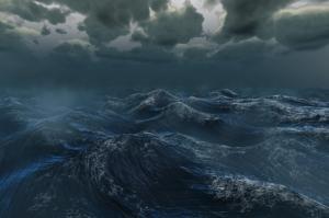 Fırtınalı Deniz Doğa Manzaraları Kanvas Tablo