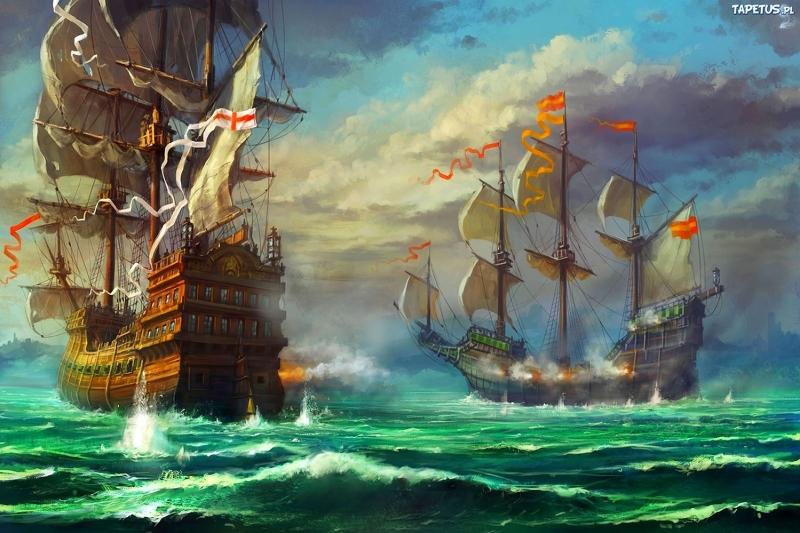 Fırtınalı Deniz Tekneler 1 Yağlı Boya Sanat Kanvas Tablo