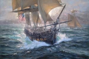 Fırtınalı Deniz Tekneler 2 Yağlı Boya Sanat Kanvas Tablo