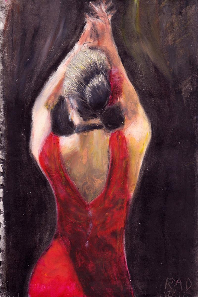 Flamenko Dansçı Kadın-23, Modern Sanat Kanvas Tablo