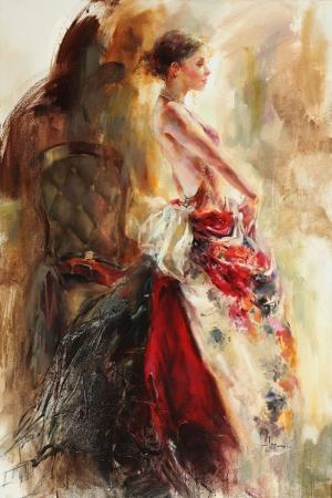 Flamenko Dansçı Kadın-31, Modern Sanat Kanvas Tablo