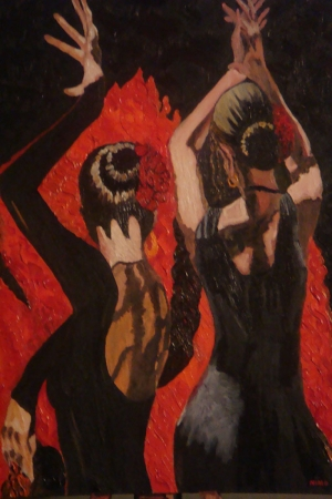Flamenko Dansçı Kadın-32, Modern Sanat Kanvas Tablo
