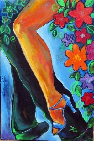 Flamenko Dansçı Kadın-36, Modern Sanat Kanvas Tablo