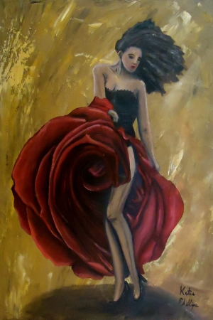 Flamenko Kadın Dansçı, Dans Eden Kadın 7 Dekoratif Kanvas Tablo
