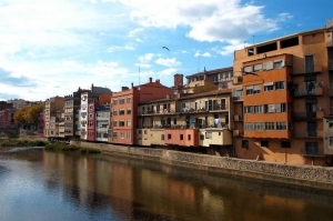 Floransa Arno Nehri Kenarındaki Evler, İtalya Şehir Manzaraları Dünyaca Ünlü Şehirler Kanvas Tablo