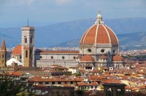Floransa Dar Sokaklar Eski, Tarihi Binalar Şehir, İtalya-2 Dünyaca Ünlü Şehirler Kanvas Tablo