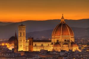 Floransa Dar Sokaklar Eski, Tarihi Binalar Şehir, İtalya-3 Dünyaca Ünlü Şehirler Kanvas Tablo