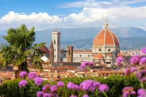 Floransa Dar Sokaklar Eski, Tarihi Binalar Şehir, İtalya-4 Dünyaca Ünlü Şehirler Kanvas Tablo