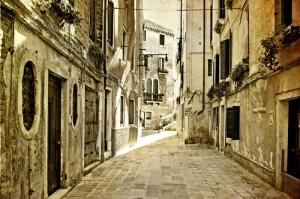 Floransa Dar Sokaklar Eski, Tarihi Binalar Şehir, İtalya, Dünyaca Ünlü Şehirler Kanvas Tablo