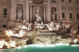 Fontana Di Trevi, Aşk Çeşmesi Roma, İtalya Tarihi Yerler Manzara-3 Dünyaca Ünlü Şehirler Kanvas Tablo
