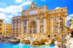 Fontana Di Trevi, Aşk Çeşmesi Roma, İtalya Tarihi Yerler Manzara, Dünyaca Ünlü Şehirler Kanvas Tablo