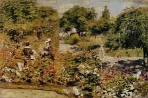 Fontanay Bahçesi, Pierre August Renoir Jardin Fontenay, Klasik Sanat Kanvas Tablo