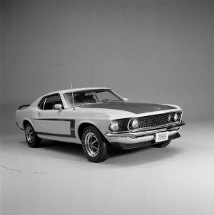 Ford 1967 Model Mustang 6 Siyah Beyaz Klasik Otomobil Araçlar Kanvas Tablo