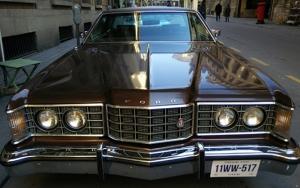 Ford Klasik Kahverengi Amerikan Arabası Kanvas Tablo