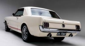 Ford Mustang 1966 Model 4 Klasik Otomobil Araçlar Kanvas Tablo