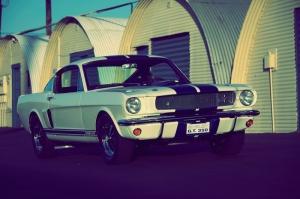 Ford Mustang 1967 Model 12 Eski Klasik Otomobil Araçlar Kanvas Tablo