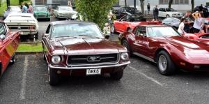 Ford Mustang 1967 Model Önden Görünümü 1 Klasik Otomobiller Araçlar Kanvas Tablo