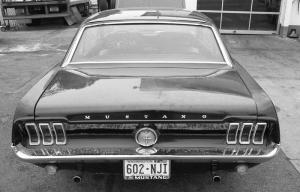 Ford Mustang 1967 Siyah Beyaz Model 2 Klasik Otomobil Araçlar Kanvas Tablo