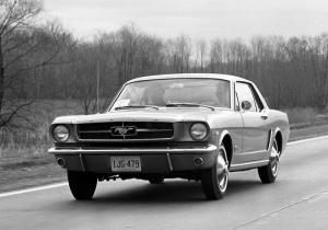 Ford Mustang 1967 Siyah Beyaz Model 4 Klasik Otomobil Araçlar Kanvas Tablo