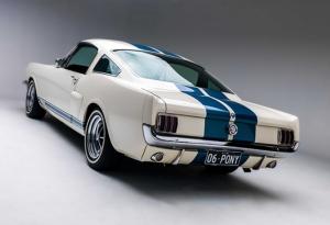 Ford Mustang Beyaz Klasik Otomobil Kanvas Tablo