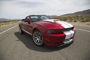Ford Mustang GT 350 Spor Otomobil Kırmızı Kanvas Tablo