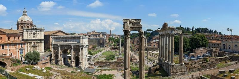 Forum Romanum Roma Tarihi Kalıntıları İtalya-1 Dünyaca Ünlü Şehirler Kanvas Tablo