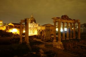 Forum Romanum Roma Tarihi Kalıntıları İtalya-10, Dünyaca Ünlü Şehirler Kanvas Tablo
