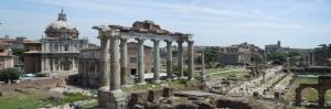 Forum Romanum Roma Tarihi Kalıntıları İtalya-11 Dünyaca Ünlü Şehirler Kanvas Tablo