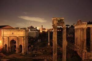 Forum Romanum Roma Tarihi Kalıntıları İtalya-13, Dünyaca Ünlü Şehirler Kanvas Tablo