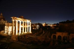 Forum Romanum Roma Tarihi Kalıntıları İtalya-14, Dünyaca Ünlü Şehirler Kanvas Tablo