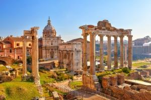 Forum Romanum Roma Tarihi Kalıntıları İtalya-15, Dünyaca Ünlü Şehirler Kanvas Tablo