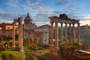 Forum Romanum Roma Tarihi Kalıntıları İtalya-16, Dünyaca Ünlü Şehirler Kanvas Tablo