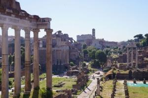 Forum Romanum Roma Tarihi Kalıntıları İtalya-17, Dünyaca Ünlü Şehirler Kanvas Tablo