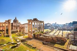 Forum Romanum Roma Tarihi Kalıntıları İtalya-18, Dünyaca Ünlü Şehirler Kanvas Tablo