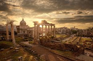 Forum Romanum Roma Tarihi Kalıntıları İtalya-19, Dünyaca Ünlü Şehirler Kanvas Tablo