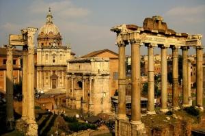 Forum Romanum Roma Tarihi Kalıntıları İtalya-20, Dünyaca Ünlü Şehirler Kanvas Tablo