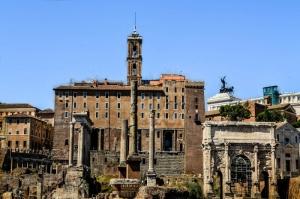 Forum Romanum Roma Tarihi Kalıntıları İtalya-21, Dünyaca Ünlü Şehirler Kanvas Tablo