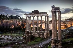 Forum Romanum Roma Tarihi Kalıntıları İtalya-22, Dünyaca Ünlü Şehirler Kanvas Tablo