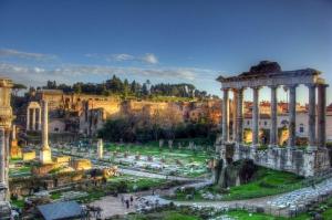 Forum Romanum Roma Tarihi Kalıntıları İtalya-23, Dünyaca Ünlü Şehirler Kanvas Tablo