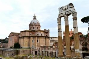Forum Romanum Roma Tarihi Kalıntıları İtalya-25, Dünyaca Ünlü Şehirler Kanvas Tablo