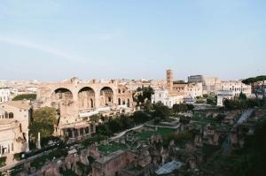 Forum Romanum Roma Tarihi Kalıntıları İtalya-26, Dünyaca Ünlü Şehirler Kanvas Tablo